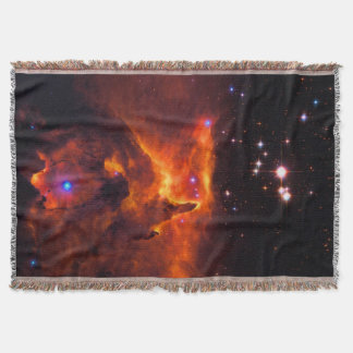 Star Cluster Pismis 24, Space Mountains Throw Blanket