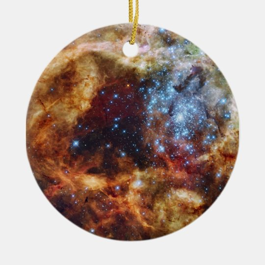 Star Cluster R136 Bursts Out Tarantula Nebula Ceramic Ornament