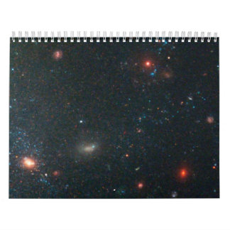 Star Clusters and Distant, Red Galaxies Near Edge Calendar