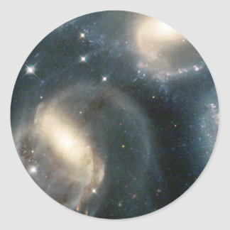 Star Clusters Born Among the Interacting Galaxies Round Sticker