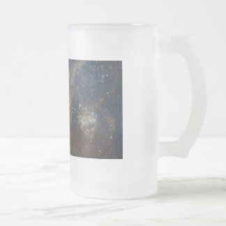 Star Clusters Frosted Glass Beer Mug