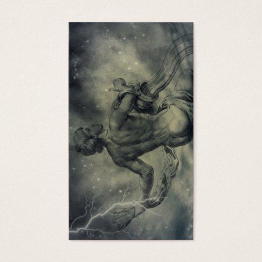 star constellation zodiac astrology aquarius business card