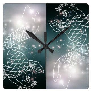 star constellation zodiac astrology Zodiac  Pisces Square Wall Clock
