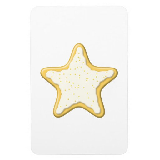 Star Cookie Design. Flexible Magnets