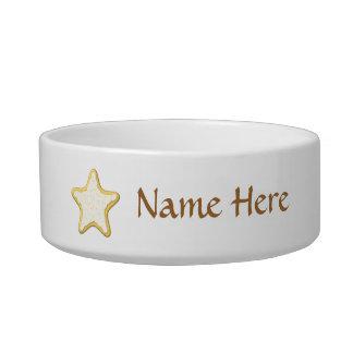Star Cookie Design Cat Bowls