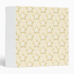 Star Cookies Pattern. Cream and Yellow. 3 Ring Binder