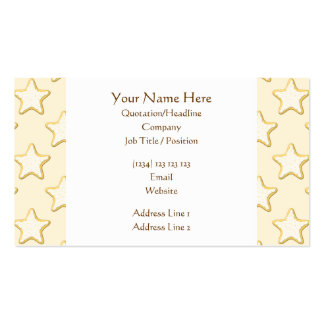 Star Cookies Pattern. Cream and Yellow. Business Card Templates