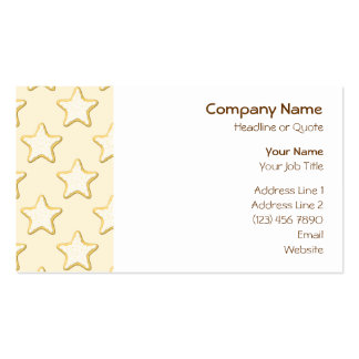 Star Cookies Pattern. Cream and Yellow. Business Cards