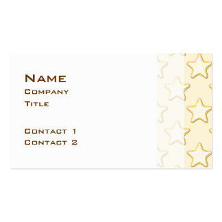 Star Cookies Pattern. Cream and Yellow. Business Card