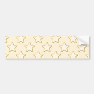 Star Cookies Pattern. Cream and Yellow. Car Bumper Sticker