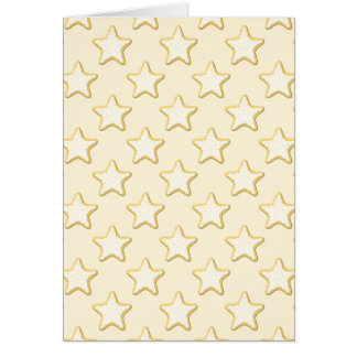Star Cookies Pattern. Cream and Yellow. Greeting Card