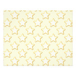 Star Cookies Pattern. Cream and Yellow. Full Color Flyer