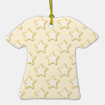 Star Cookies Pattern. Cream and Yellow. Ornaments