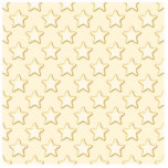 Star Cookies Pattern. Cream and Yellow. Photo Cutout
