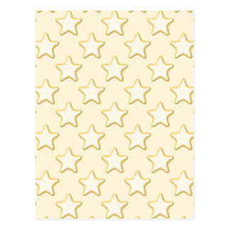 Star Cookies Pattern. Cream and Yellow. Postcard