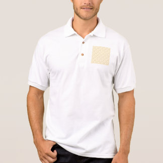Star Cookies Pattern. Cream and Yellow. Polo T-shirt