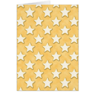 Star Cookies Pattern. Golden Yellow. Stationery Note Card