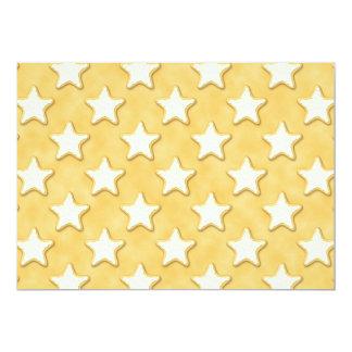 Star Cookies Pattern. Golden Yellow. Card