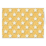 Star Cookies Pattern. Golden Yellow. Greeting Card