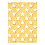 Star Cookies Pattern. Golden Yellow. Custom Announcements