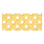 Star Cookies Pattern. Golden Yellow. Invitations
