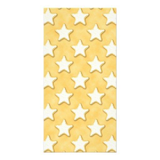 Star Cookies Pattern. Golden Yellow. Custom Photo Card