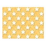 Star Cookies Pattern. Golden Yellow. Postcards