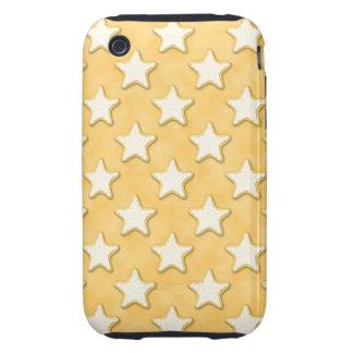 Star Cookies Pattern. Golden Yellow. Tough iPhone 3 Case