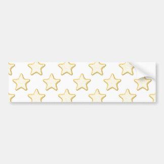 Star Cookies Pattern. On White. Bumper Sticker