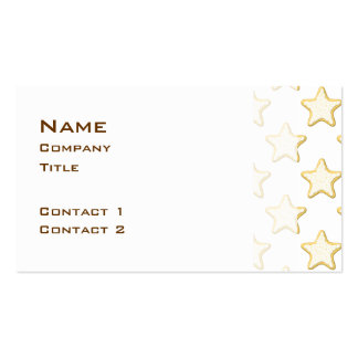 Star Cookies Pattern. On White. Business Card Template