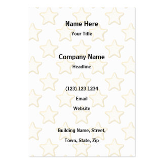 Star Cookies Pattern. On White. Business Card Templates