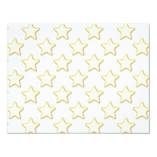 Star Cookies Pattern. On White. Card