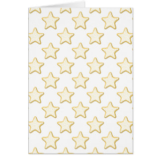 Star Cookies Pattern. On White. Stationery Note Card