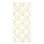 Star Cookies Pattern. On White. Personalized Invitation