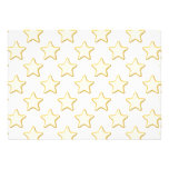 Star Cookies Pattern. On White. Invitation