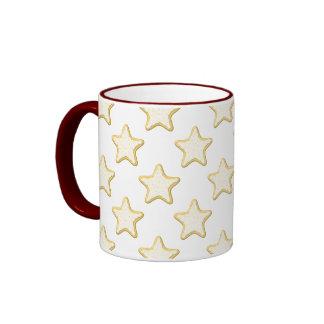 Star Cookies Pattern. On White. Coffee Mugs