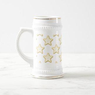 Star Cookies Pattern. On White. Mug