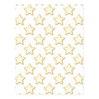 Star Cookies Pattern. On White. Postcard