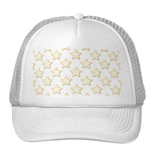 Star Cookies Pattern. On White. Trucker Hat