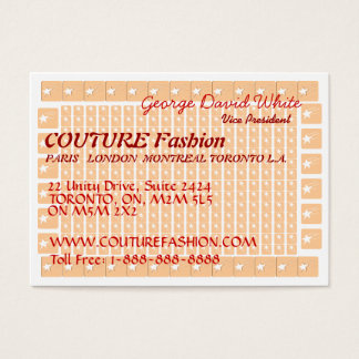 Star COUTURE Presentation Business Card