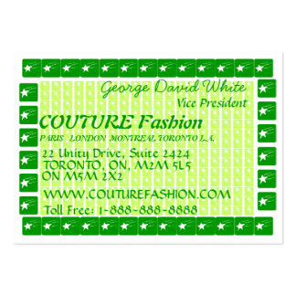 Star COUTURE Presentation Large Business Card