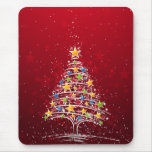 Star Covered Christmas Tree Mouse Pads