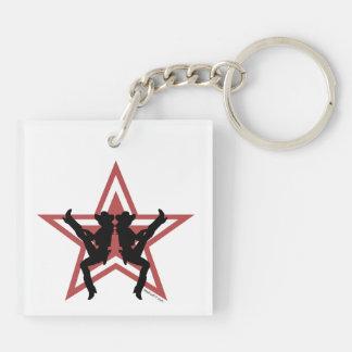 Star Cowgirls Red Keychains