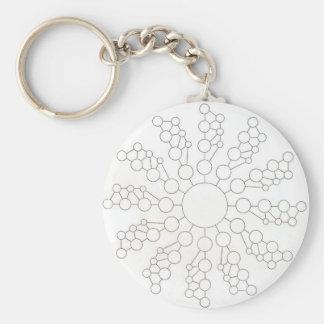 star cropped basic round button keychain