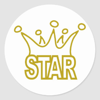Star-Crown.png Classic Round Sticker