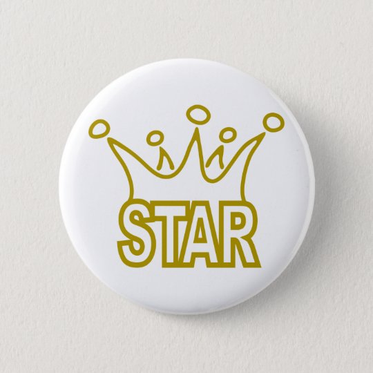 Star-Crown.png Pinback Button