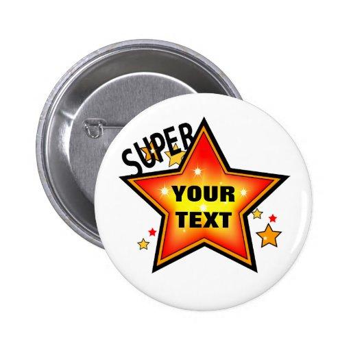 Star Custom Pin Back Button