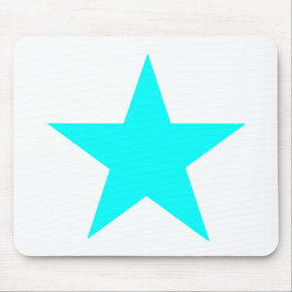 Star Cyan The MUSEUM Zazzle Gifts Mouse Pad