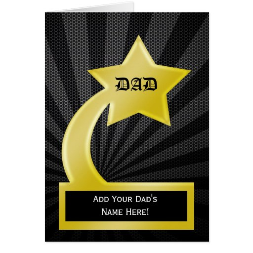 fathers day trophy card trophy award s day card zazzle 4450