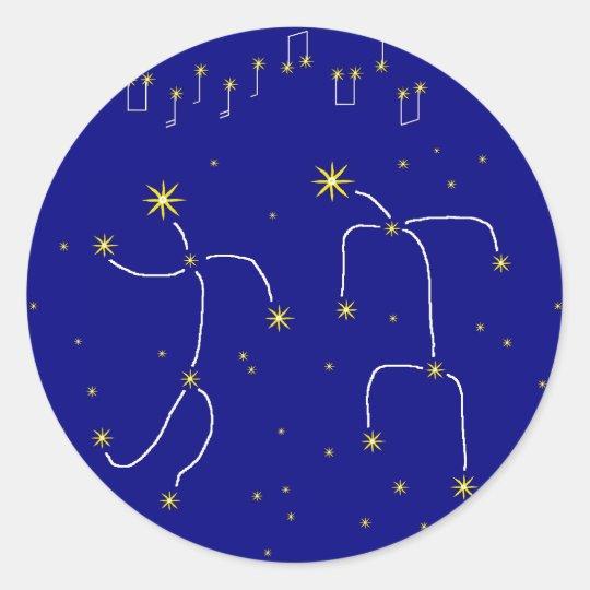 Star Dance Classic Round Sticker